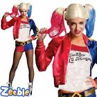 Official Suicide Squad Harley Quinn Fancy Dress Costume Womens Adult 8-16