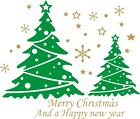 Merry Christmas tree Happy New Year wall/ window/door Vinyl sticker-removable