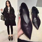 New Women's Sexy Buckle Pointed toe Flats Faux Leather Slip On Shoes US5-8.5