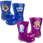 Childrens Paw Patrol Wellington Boots Boys Blue Girls Pink Wet Rainy Day Wellies