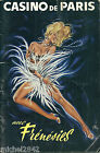 Programme Casino de Paris 1963 Frénésie Music Hall O Kley Danse pin up cabaret