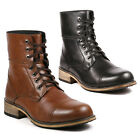 Metrocharm Mens Lace Up Cap Toe Military Combat Work Desert Fashion Ankle Boots
