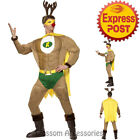 CA119 Super Reindeer Santa Xmas Helper Christmas Elf Funny Fancy Costume Outfit