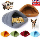 UK Pet Cat Dog Nest Bed Puppy Soft Warm Cave House Winter Sleeping Bag Mat Pad S
