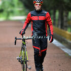 New Cycling Outdoor Sport Fleece Bike Long Sleeves Jersey+4D Bicycle Pants Sets