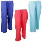 Ladies Tom Franks 3/4 Length Coloured Summer Casual Linen Trousers In 3 Colours