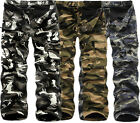 Mens Fashion Winter Thermal Warm Work Trousers Military Camo Cargo Pants Thick