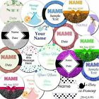 Personalised Baby Shower Boy/Girl Labels/stickers, 37mm