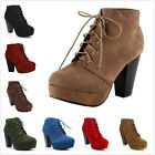 Kyпить NEW Women's Fashion Lace Up Chunky High Heel Platform Ankle Booties Pumps Shoes на еВаy.соm