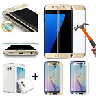 Clear TPU Case + Full Cover Tempered Glass for Samsung Galaxy S7 RB3