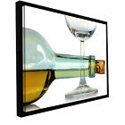 'Bottle Plus Glass' by Dan Holm Framed Photographic Print on Wrapped Canvas