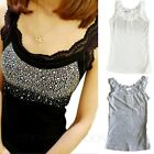 Camisole Womens Casual Sleeveless Vintage Summer Glamour Top sz 8