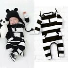 Newborn Romper Kids Infant Bodysuit Boy Girl Baby Cotton Jumpsuit Clothes N4U8
