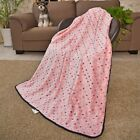 Pet Large Dog Blanket Dots Fleece Fabric Soft Cat Bed Kennel Pad Mat Cover