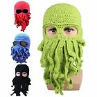 Unisex Warm Winter Octopus Knitted Wool Ski Mask Knit Hat Squid Cap Beanie 1PC