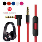 Beats Solo 2 Cord Best Deals - Replacement Audio Cable Cord Wire w/Mic for Beats by Dr Dre Headphone Studio/Pro