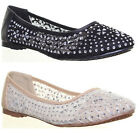 13274 Womens Miscellaneous Sandals Ballarina Flat Sole Round Toe Ladies Pump