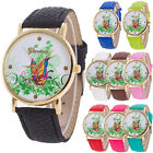 Brand Geneva Watch Women Casual Leather Dress Watch Quartz Analog Wristwatches