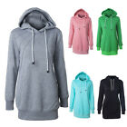 Women Long Sleeve Hoodie Sweatshirt Sweater Casual Hooded Coat Pullover TB