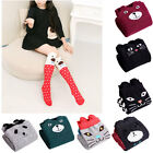 1PC Girls Knit Cotton Over Knee Thigh Stockings Students Soft Warm High Socks
