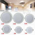 Warranty 6W-24W Dimmable LED Recessed Ceiling Panel Down Light Cool White Lamp