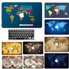 "World Map Rubberized Hard Case For new Macbook PRO 13""(Touch Bar)/Air Retina+KB"