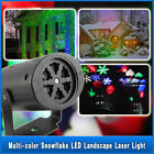 Moving Sparkling LED Snowflake Landscape Laser Projector wall Lamp Xmas Light UK