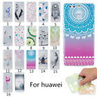 Rubber Pattern Soft TPU Silicone Back Case Skin Cover For Huawei 5X P9 lite