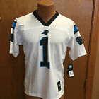 NFL CAROLINA PANTHERS CAM NEWTON YOUTH JERSEY WHITE BRAND NEW WITH TAGS !