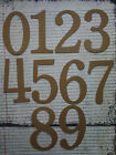 "4"" tall SERIF NUMBERS bare chipboard diecuts [choose quantity, plain or sticker]"