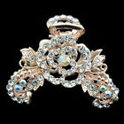 jewelry women hair extension crystal tiara barrette clip comb rose flower claw