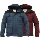 Mens Jacket Brave Soul Coat Padded Hooded Casual Lined Fashion Winter New