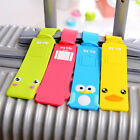 Cute Silicone Travel Luggage Tags Baggage Personal Suitcase Bag Labels Name