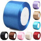 "25 Yds 50mm(2"") Multicolor Purposes Wedding Party Craft Satin Ribbon Spool"