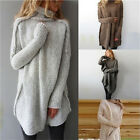 New Women Fall Winter Casual Long Sleeve Irregular Pullover Turtleneck SweateLAC