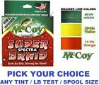 McCoy Fishing Line Braid 150 Yard Bulk 300 YD Spools Any Color Braided LB Test