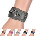 Fashion Women Men Punk PU Leather Bangle Wristband Cuff Bracelet Jewelry tb