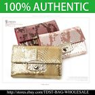 [OMNIA]Crystal Ladies Wallet Snake Leather Trifold Purse ID Card Coins BagKR346M image