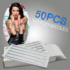 50pcs Disposable Stainless Steel Sterile Round Liner Tattoo Gun Supply Needles