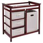 Infant Baby Changing Table w 3 Basket Hamper Diaper Storage Nursery US Stock