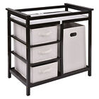 Infant Baby Changing Table w/3 Basket Hamper Diaper Storage Nursery US Stock