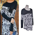 Women Casual Tops New T-Shirt Loose Fashion Blouse Cotton Blouse Long Sleeve tb