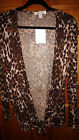 NWT INSPIRE WOMANS SZ XLARGE OPEN CARDIGAN LEPOARDE PRINT COMPARE TO $40 SWEATER