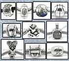 SPORTS Ball BEADS Charms Silver for Bracelets Boys Girls Coach Mom Christmas