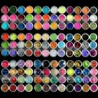 45 Colour Fine Dust Glitter Nail Art Face Body Eye Shadow Craft Paint Iridescent