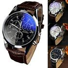 Cool Men's Date Leather Stainless Steel Military Sport Quartz Wrist Watch