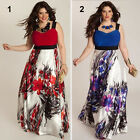 Women's V Neck Casual Sleeveless Dress Lady Floral Dress Evening Party Dress New
