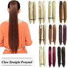 21.6'' Long Big blonde Straight Claw Clip Hair Ponytail Hair Extension