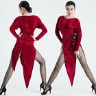 New Adult Dancewear Latin Dance Velvet Dress Rumba Cha Cha Paso Doble Ballroom