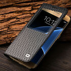 QIALINO Smart View Window Genuine Leather Case Cover for Samsung Galaxy S7 edge